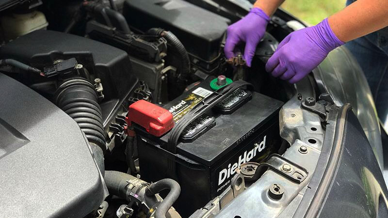 Connect car battery